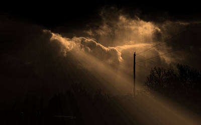 Stormy Sky And Light Art Print by Martin Morehead