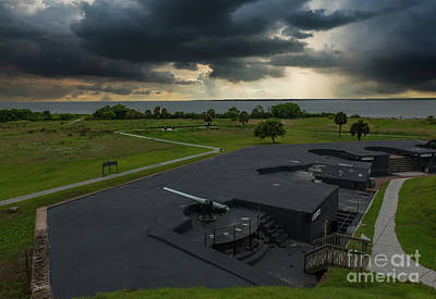 Photograph - Stormy Sky Over Fort Moultrie by Dale Powell