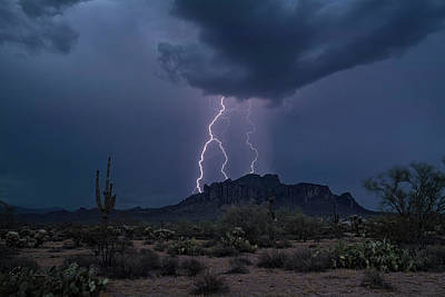 Photograph - Stormy Sonoran Evening  by Saija Lehtonen
