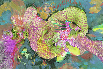 Stormy - #ss18dw016 Art Print by Satomi Sugimoto