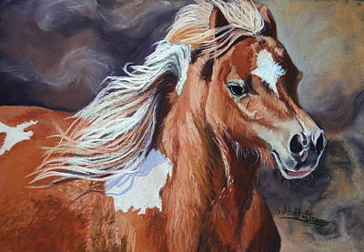 Horse Art Pastels Painting - Stormy by Stephanie Grimes