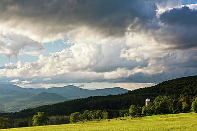 Photograph - Stormy Summer Countryside by Alan L Graham