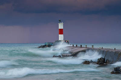 Waukegan Photograph - Stormy Sunrise 1 by Gary James