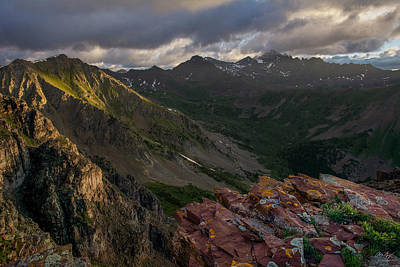 Of Ers Photograph - Stormy Sunrise - Castle Peak by Aaron Spong