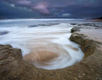 Knights Beach Photograph - Stormy Sunrise by Mike  Dawson