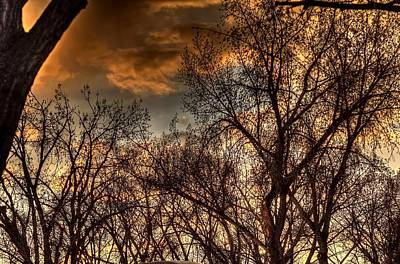 Jerry Sodorff Royalty-Free and Rights-Managed Images - Stormy Sunset 14151 by Jerry Sodorff