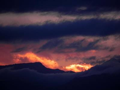 Storm Photograph - Stormy Sunset by Adrienne Petterson