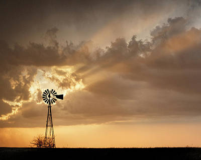 Photograph - Stormy Sunset And Windmill 03 by Rob Graham