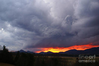 Photograph - Stormy Sunset by Annlynn Ward
