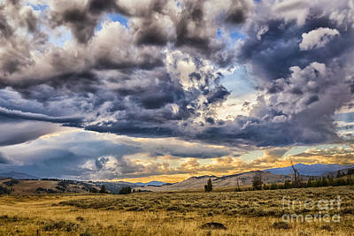 Stormy Sunset At Blacktail Plateau Art Print