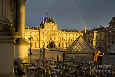 Photograph - Stormy Sunset At Musee Du Louvre by Brian Jannsen