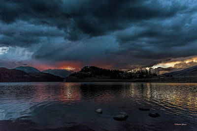 Photograph - Stormy Sunset From Summit Cove by Stephen Johnson