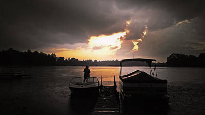 Photograph - Stormy Sunset by Graesen Arnoff