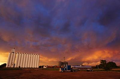 Photograph - Stormy Sunset In Kansas by Ed Sweeney