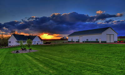Photograph - Stormy Sunset In The Country by Dale Kauzlaric