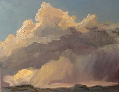Stormy Sunset Art Print by Jo Anne Neely Gomez