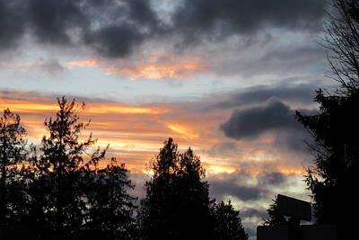 Photograph - Stormy Sunset by Karen Molenaar Terrell