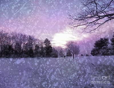 Photograph - Snow Storm Sunset by Marcia Lee Jones