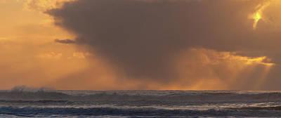 Seashore Photograph - Stormy Sunset by Marv Vandehey