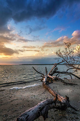 Beach Landscape Photograph - Stormy Sunset by Marvin Spates