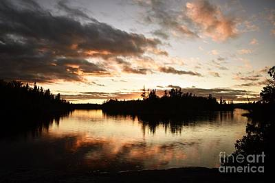 Photograph - Stormy Sunset On Little Saganaga Lake by Larry Ricker