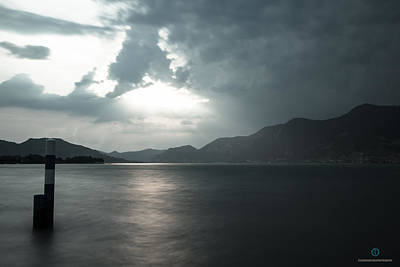 Photograph - Stormy Sunset On The Lake by Cesare Bargiggia