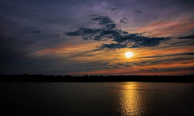 Photograph - Stormy Sunset Over Belleville Lake by Pat Cook
