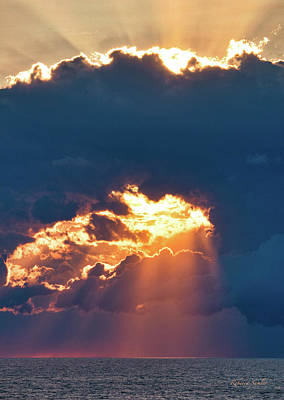 Photograph - Stormy Sunset by Rebecca Samler