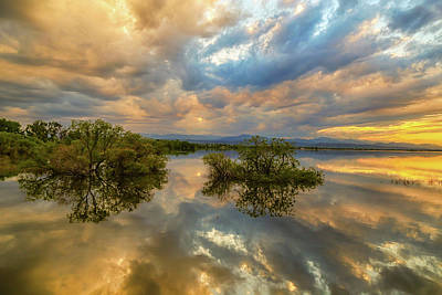 Photograph - Stormy Sunset Reflections by James BO Insogna