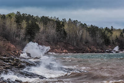 Duluth Photograph - Stormy Superior by Paul Freidlund