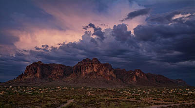 Photograph - Stormy Superstition Skies  by Saija Lehtonen