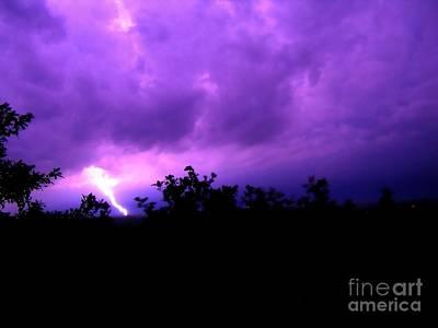 Konza Prairie Photograph - Stormy by Teresa White