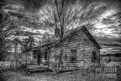 Photograph - Stormy Times 7 B W The Shack Sharecroppers Greene County Georgia Art by Reid Callaway