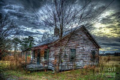 Photograph - Stormy Times 7 The Shack Sharecroppers Greene County Georgia Art by Reid Callaway