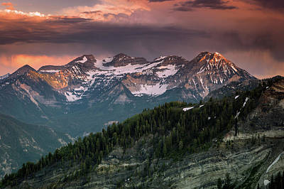 Photograph - Stormy Timpanogos Sunset by Johnny Adolphson