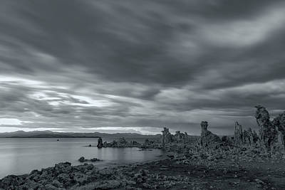 Photograph - Stormy Twilight Bw by Jonathan Nguyen