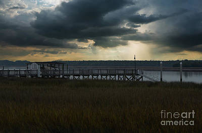 Photograph - Stormy Wando River Sky by Dale Powell