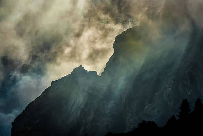 Photograph - Stormy Wasatch- Rays by Dave Koch