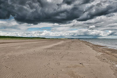 Photograph - Stormy Weather Over Tentsmuir Beach In Scotland by Jeremy Lavender Photography