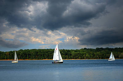 Percy Priest Lake Photograph - Stormy Weather by Steven Michael