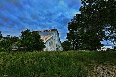 Photograph - Stormy White Barn by Anna Louise