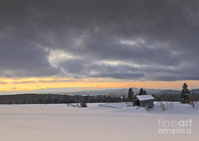 Photograph - Stormy Winter Landscape by Alan L Graham