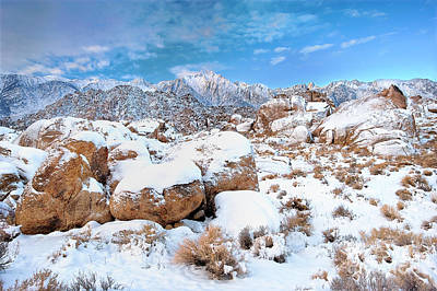 Photograph - Stormy Winter Sunrise Alabama Hills California by Dave Welling
