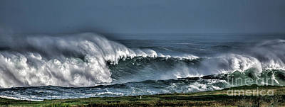 Photograph - Stormy Winter Waves by Shirley Mangini