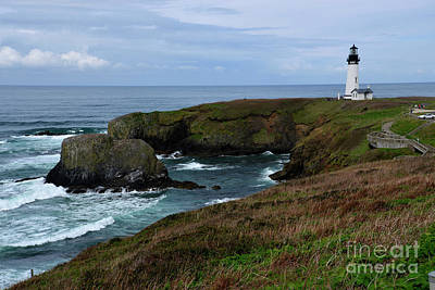 Stormy Yaquina Head Lighthouse Art Print