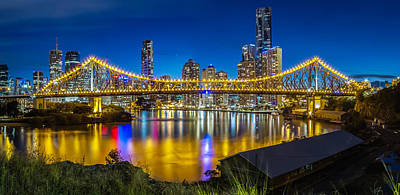 Photograph - Story Bridge- Brisbane Queensland by Mark Lucey