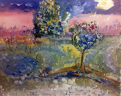 Painting - Story Of Two Trees by Judith Desrosiers