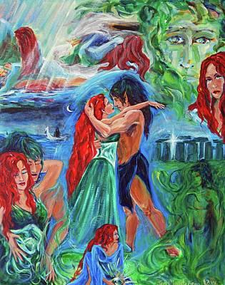 Henge Painting - Story Of Vaehema by Jennifer Christenson