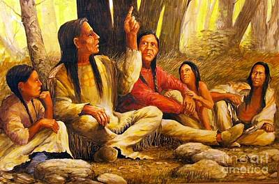 Painting - Story Teller by Perrys Fine Art