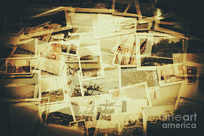 Storyboard Of Past Memories Art Print